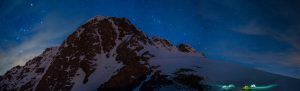 Winter camping in the Zagros mountains on the upper slopes of Mount Halgurd