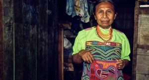 Local Kuna Indian woman in Panama's Darien Gap