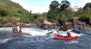Rafting whitewater in Madagascar