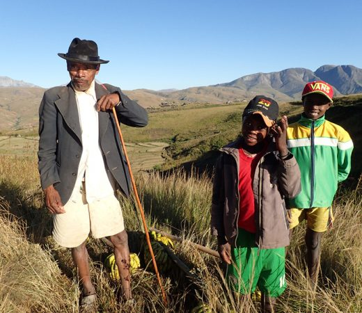 Meeting Malagasy farmers on expedition, trekking in Madagascar