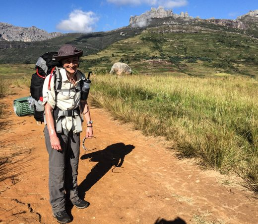 Trekking close to Pic Boby in the Andringitra National Park in Madagascar.