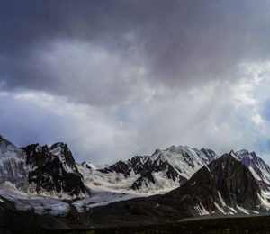 The Pamir mountains as seen from a valley within the Wakhan Corridor