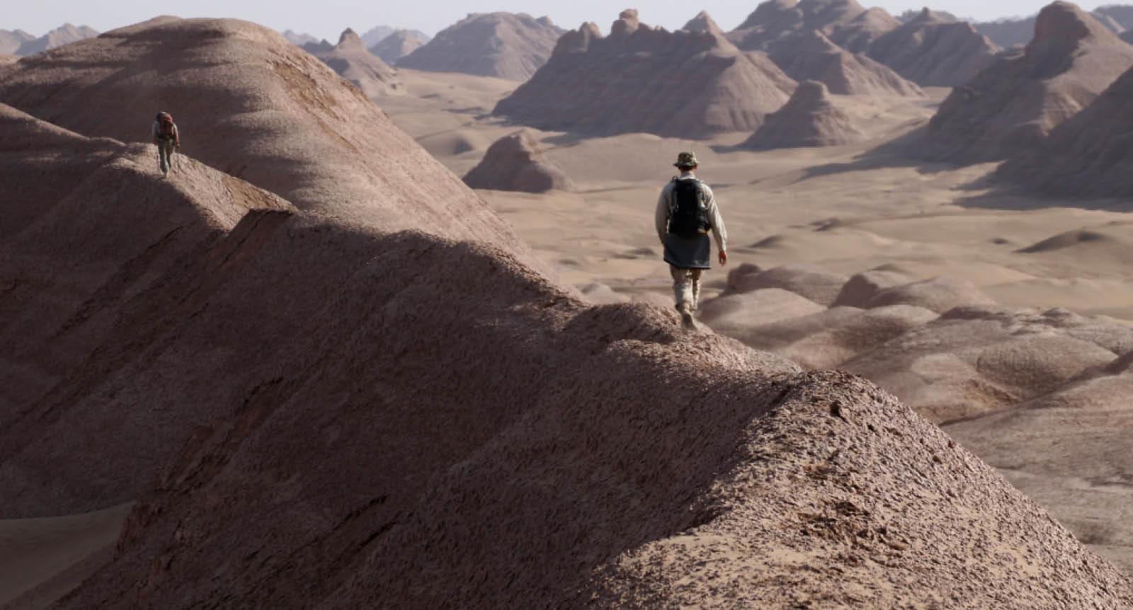 Iran desert trek across the Lut Desert