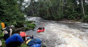 Packrafting down the Ivindo river, Gabon