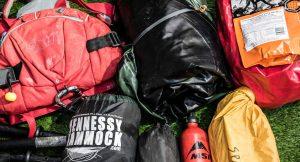 MSR fuel bottle expedition food ration packs tent