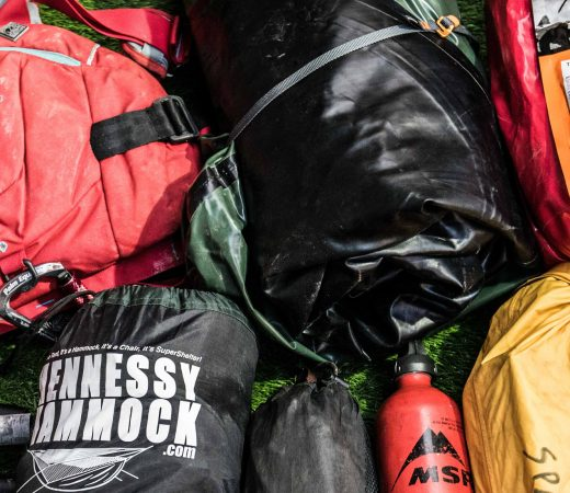 MSR fuel bottle expedition food ration packs tent