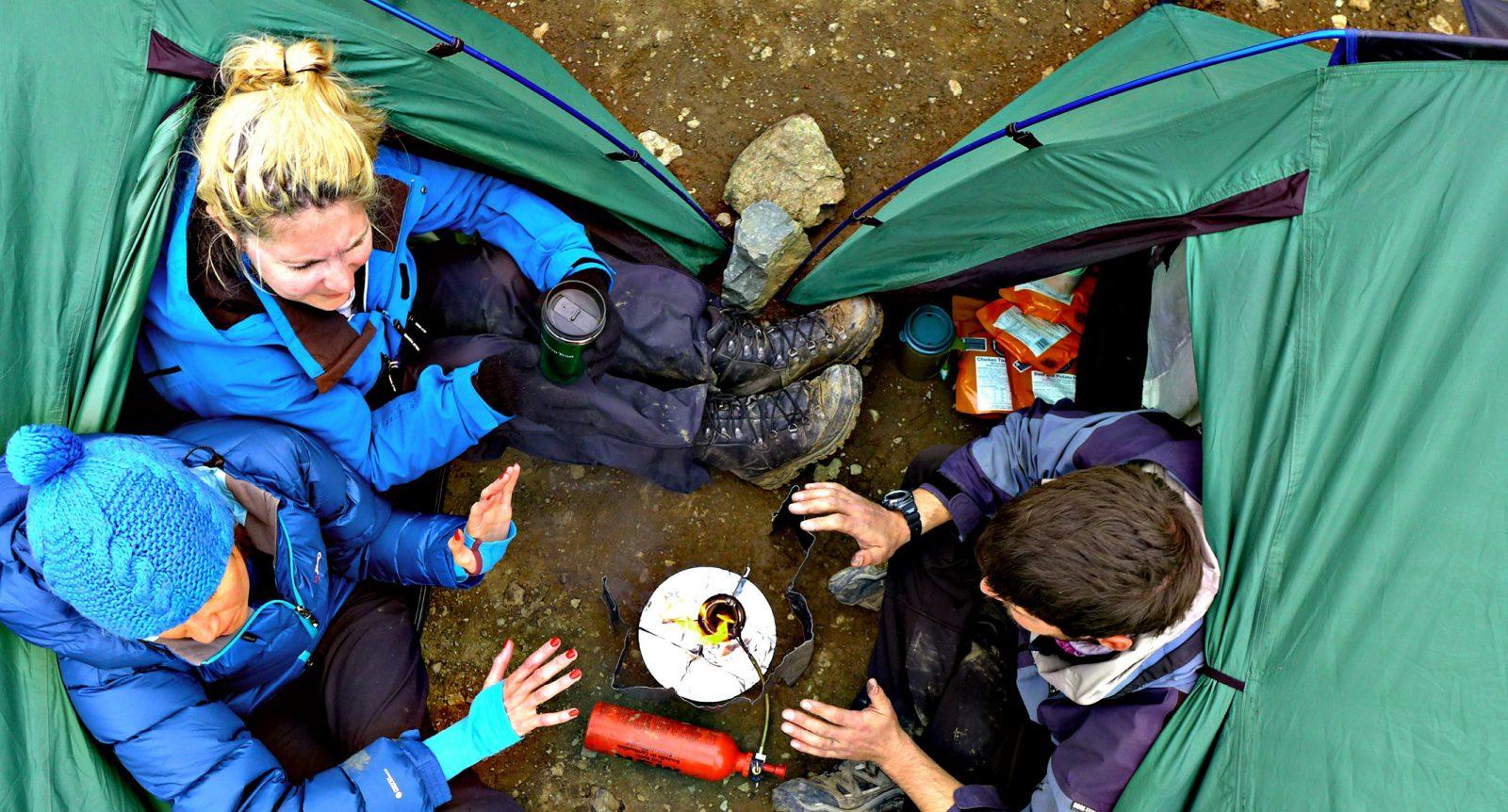 Team-centred ethos Secret Compass tents Iraqi Kurdistan