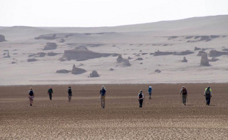Secret Compass team cross the Lut desert in Iran.