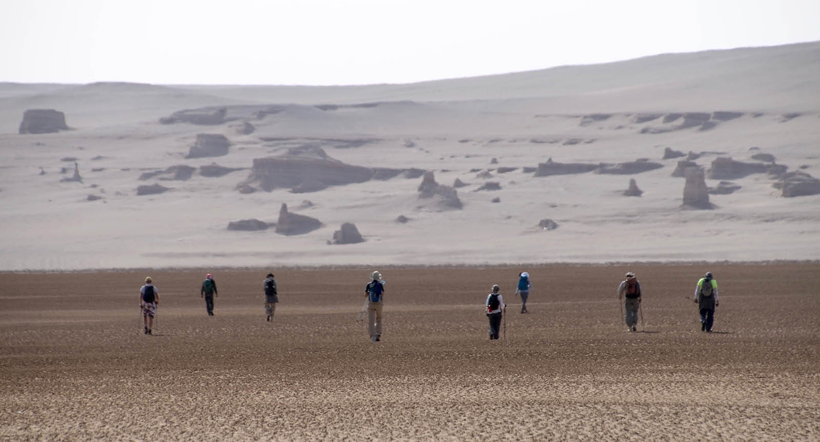 Secret Compass team cross the Lut desert in Iran.