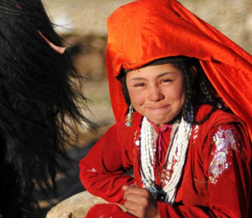 Afghani girl living within the Wakhan Corridor