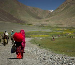 woman in Pamir valley Afghanistan