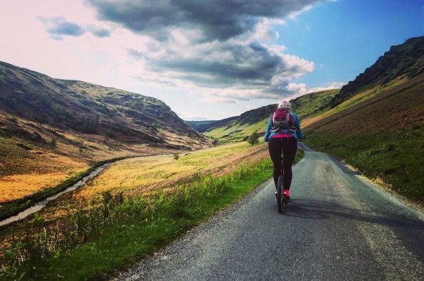 Anna McNuff enjoying her trekking