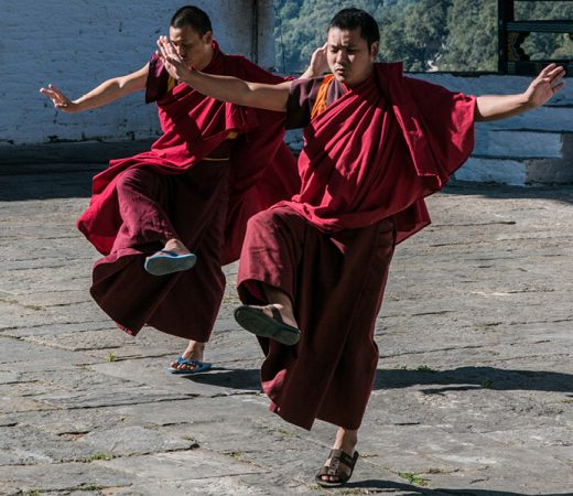 Bhutan Buddists praising dance