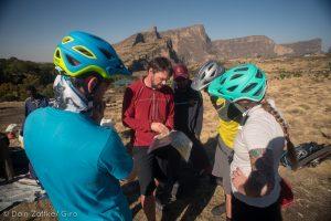 Secret Compass team gather around on Ethiopian adventure