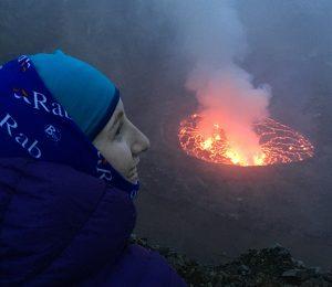 DRC Virunga expedition, overlooking a volcanoe