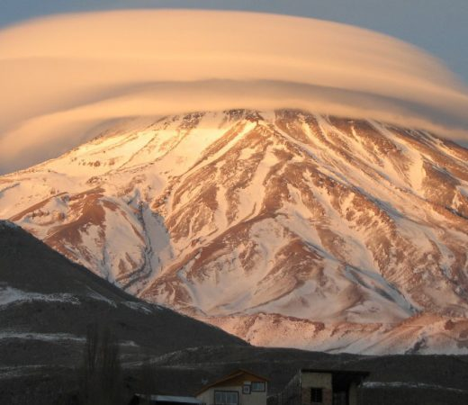 Damavand with cloud circling the summit. Iran