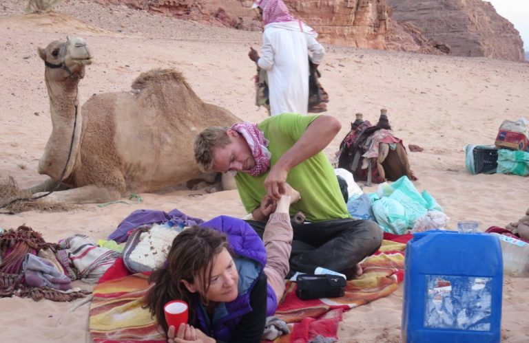 Footcare in Egypt's Sinai desert