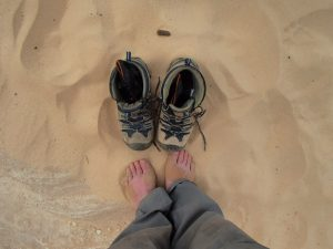 Egypt's Sinai desert, boot foot care