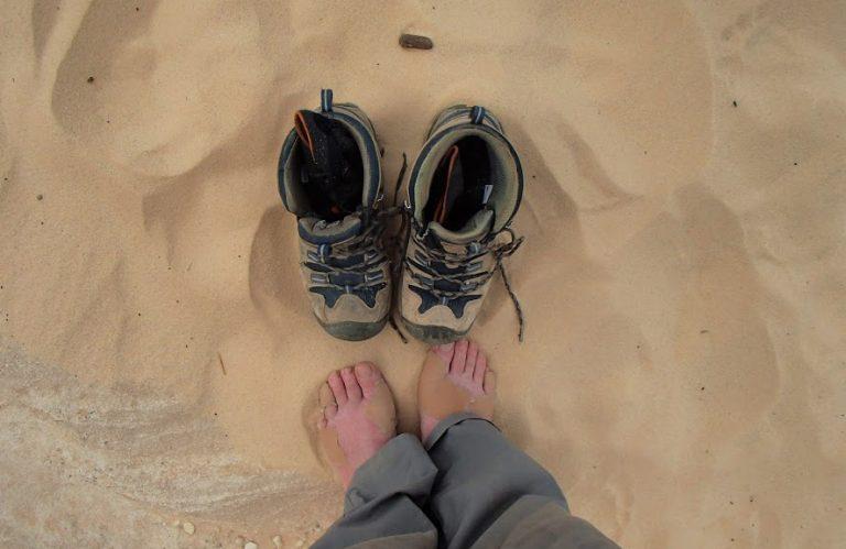 Egypt's Sinai desert, boot foot care