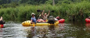 Kayaking down the Ivindo river, Gabon