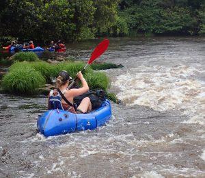 Kayaking down the Ivindo river, Gabon