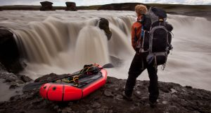 Al Humphreys packrafting in Iceland