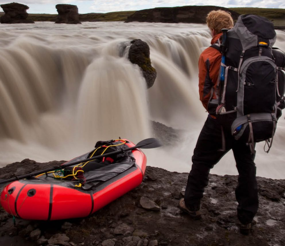Al Humphreys packrafting in Iceland