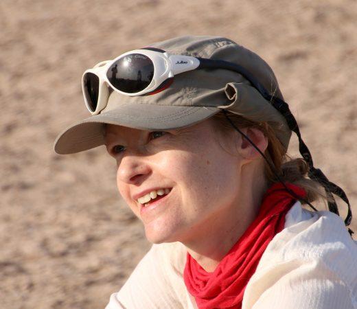 Iran Lut Desert woman trekking image