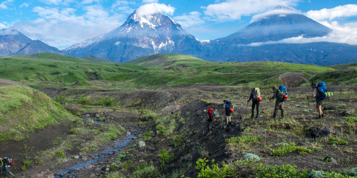 Kamchatka. Secret compass members begin their journey