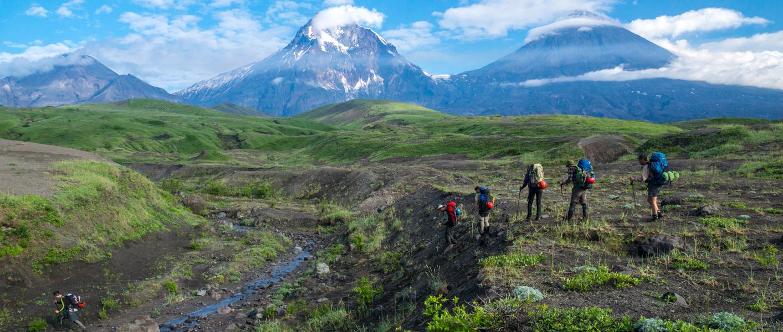 Kamchatka. Secret compass members begin their journey
