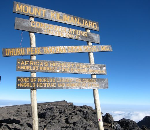 Kilimanjaro sign post on trek (c) Kuruman