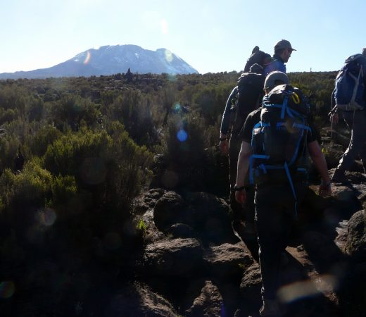 The Secret compass team wake up early to embark on another day of trekking on the Mount Kilimanjaro expeditionThe Secret compass team wake up early to embark on another day of trekking on the Mount Kilimanjaro expedition