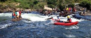 Madagascar teammates in boats