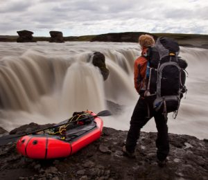 Al Humpherys pack rafting in Iceland
