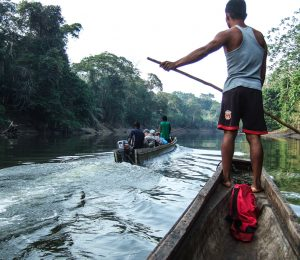Canoeing the Darien Gap river between Colombia and Panama
