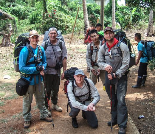 Group photo of secret compass team in the Darien Jungle