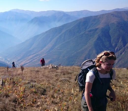 Armenia expedition image, girl on mountainside