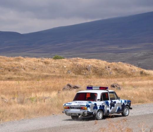 Armenia, Lada fake police car