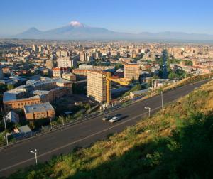 Armenia view, Mount Ararat in distance, Yerevan image