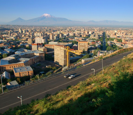 Armenia view, Mount Ararat in distance, Yerevan image