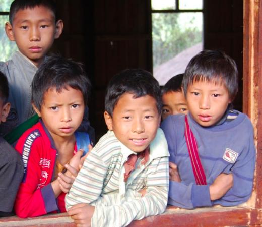 Burma Saramati Expedition village boys