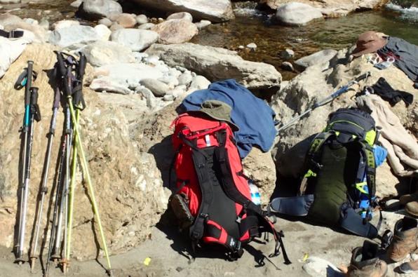 Burma Saramati Expedition helping kit by the riverside