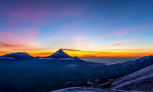 Volcano view in Kamchatka