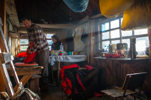 Inside a volcanology hut, Kamchatka