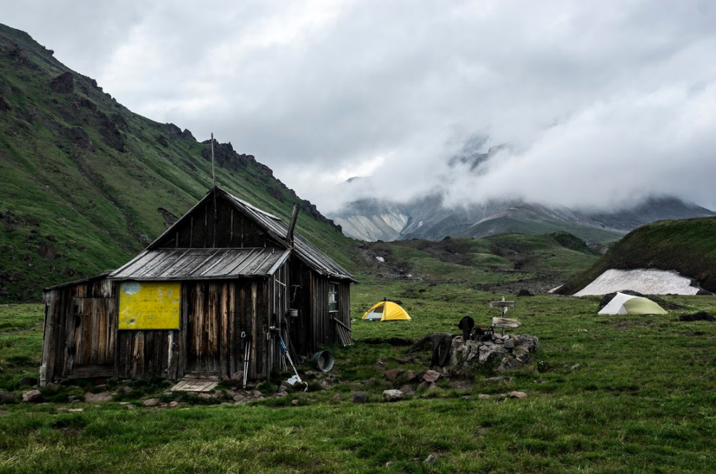 Volcanologists hut in Kamchatka