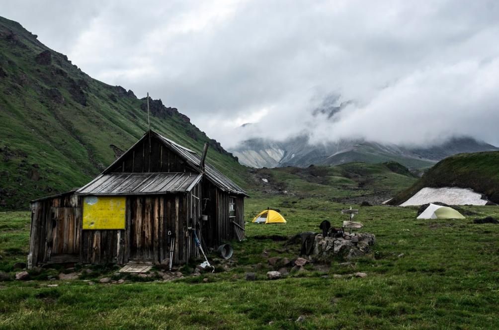 Volcanologists hut in Kamchatka