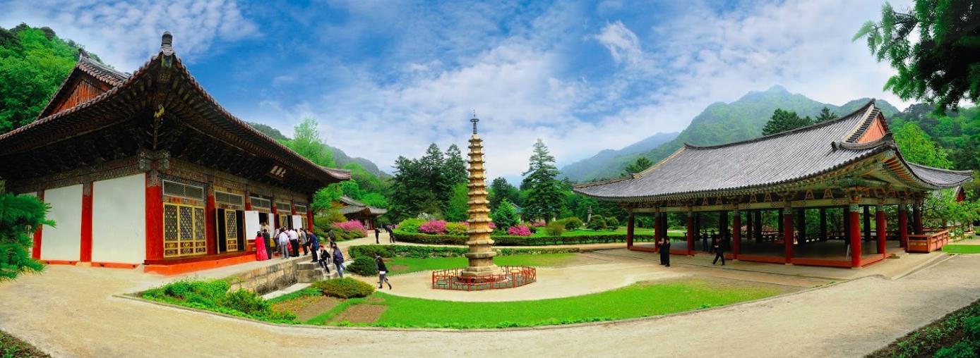 Panoramic North Korean temple