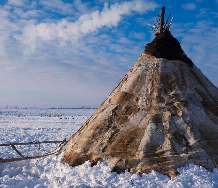 Nenets tent in Siberia