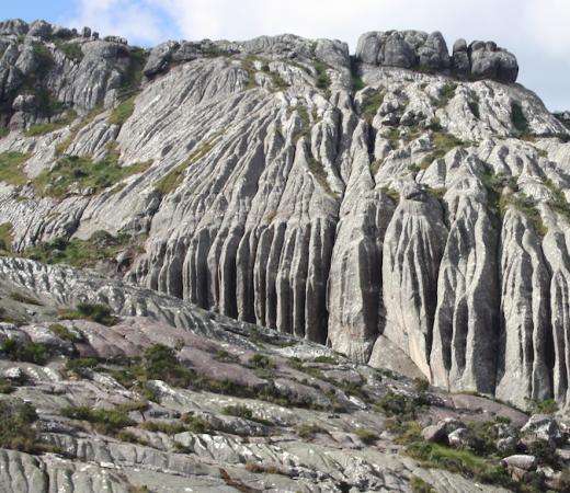 Granite peaks in Madagascar near Pic Boby