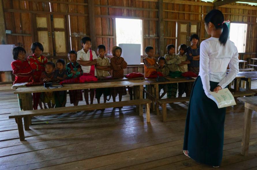 Schoool, Naga Village. Burma